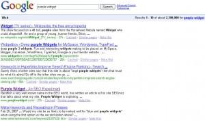 Purple Widget - Ranked 4th on Google